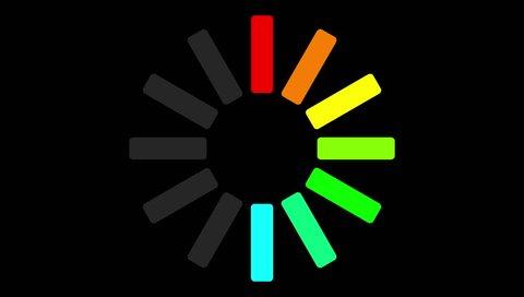 symbols 4K Loading Pending circle icon background animation sign icon business sign icon amazing set business icon technology Flat Style Animated Shapes Elements Loading screen Loading Process amazing