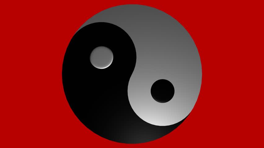 Yin Yang Symbol Loopable Animation Stock Footage Video 100