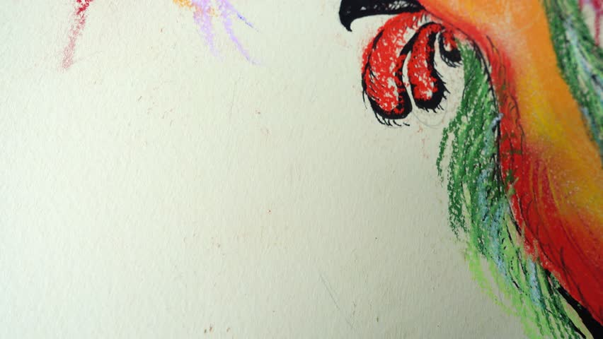 Drawing of a rooster. | Shutterstock HD Video #1024151975
