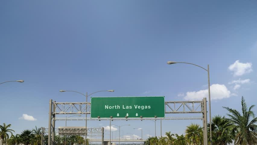 Airplane Landing North Las Vegas | Shutterstock HD Video #1024167635