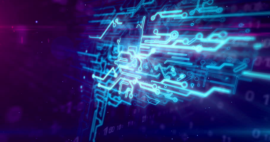 Cybernetic brain, deep machine learning and artificial intelligence concept animation. Working cyber mind on dynamic digital 3D background. | Shutterstock HD Video #1024169555