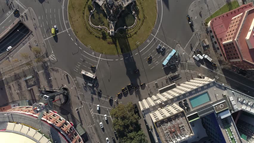 Fast Traffic Aerial View in Barcelona Spain | Shutterstock HD Video #1024251545
