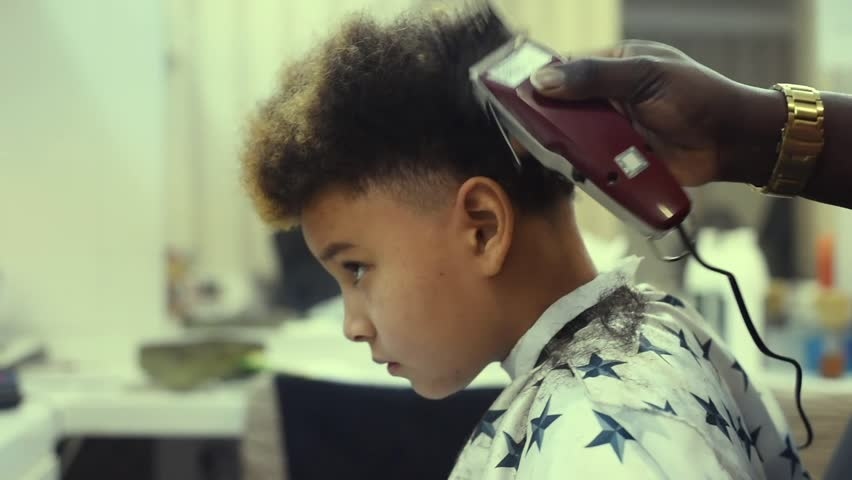 Boy In The African Barbershop Stock Footage Video 100 Royalty Free 1024339415 Shutterstock