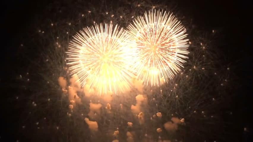 Fireworks show background | Shutterstock HD Video #1024440605