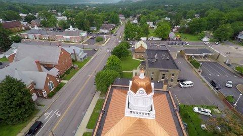 Aerial views of Romney, West Virginia.