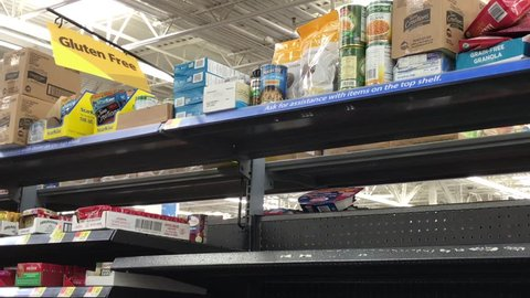 Brilliant Somerdale New Jersey February 16 2018 The Shelves Are Seen Totally Empty In The Gluten Free Section Of A Supermarket Home Remodeling Inspirations Genioncuboardxyz