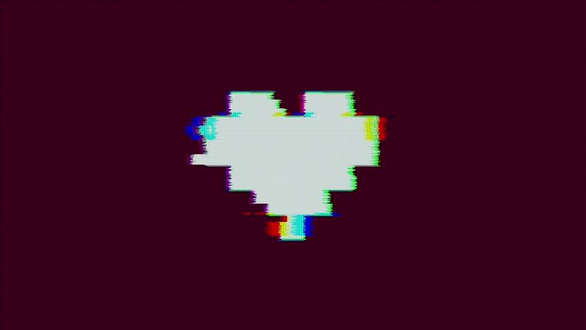 Pixel Art Glitch Heart With Vidéos De Stock 100 Libres De Droit 1024641905 Shutterstock