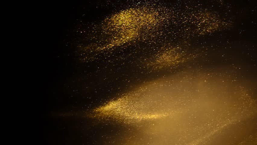 Golden sand or dust creating abstract cloud formations. Art backgrounds. | Shutterstock HD Video #1024787135
