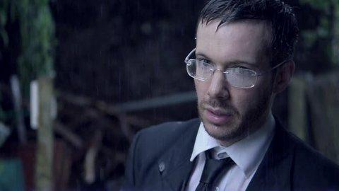 Sad Businessman In Suit Soaked In Rain, Upset In Poor Weather.