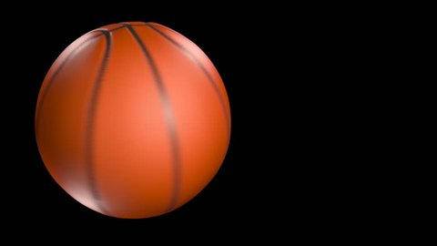 fast spinning basketball isolated over black with motion blur - 3d rendering.