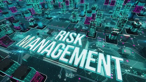 Risk Management with digital technology concept