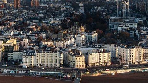 Aerial view of Brighton, Brighton Waterfront, United Kingdom