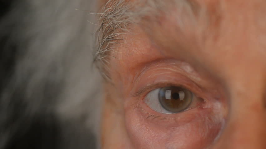 Close-up Of a senior Mans face