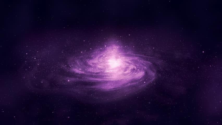 Procedural Realistic CGI Galaxy Fly By. #1025126195