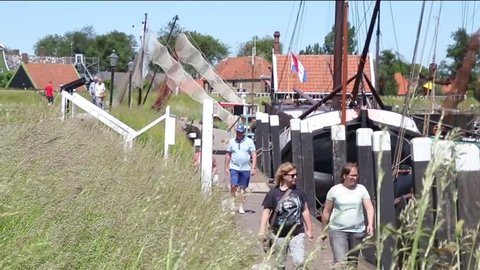 Netherlands,Enkhuizen,july 2017: singing group in the open air museum
