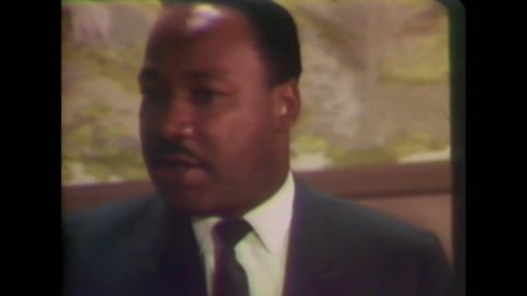 CIRCA 1968 - In an interview with the press, Martin Luther King admits he did not come to Memphis properly prepared for the situation there. -