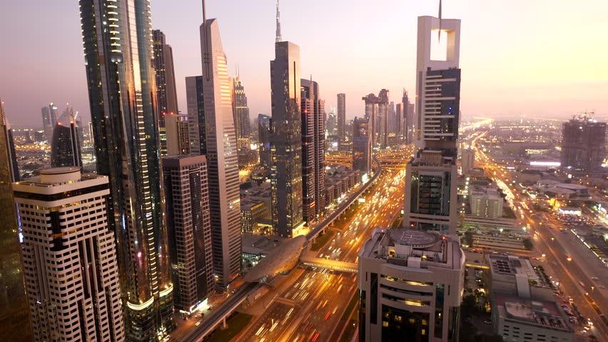 Futuristic Urban Architecture Infrastructure Metropolitan Cityscape Skyline | Shutterstock HD Video #1025349755