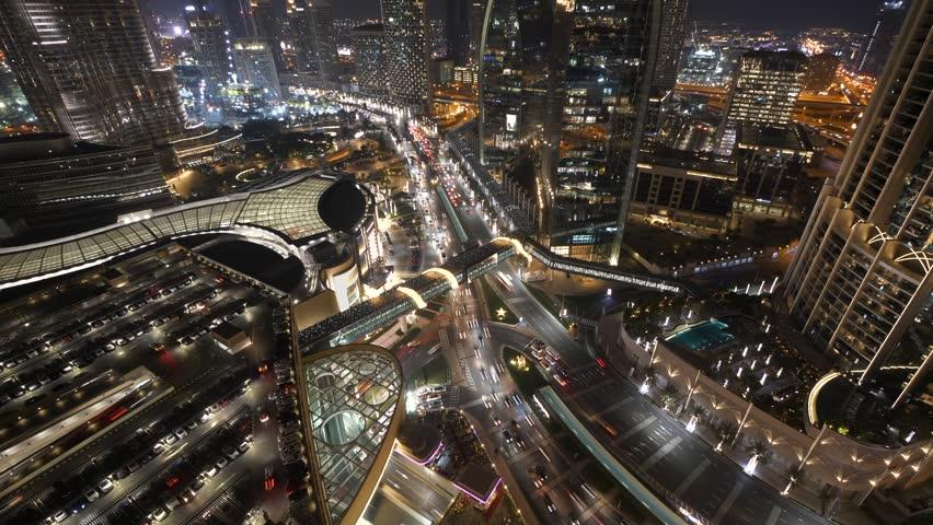 Futuristic Urban Architecture Infrastructure Metropolitan Cityscape Skyline | Shutterstock HD Video #1025349935