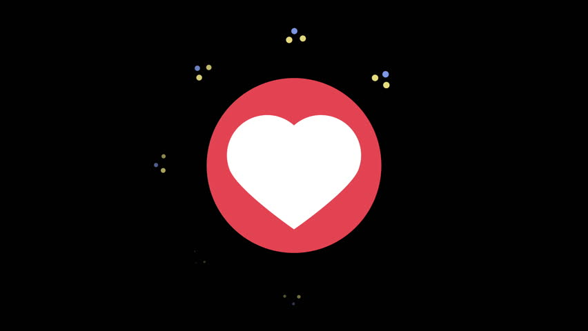 A stylized heart or like icon, inspired by social media like and love symbols, for use to show popularity, likes, growth, business engagement, etc. Also useful for modern romance or love