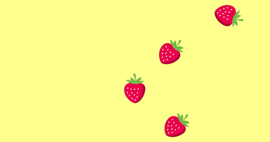 Background Picture With Falling Strawberries Stock Footage Video 100 Royalty Free 1025596475 Shutterstock