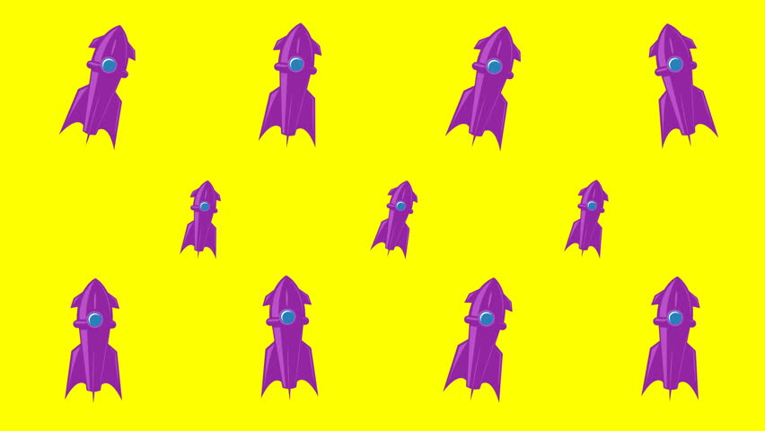 Animated background with space rockets | Shutterstock HD Video #1025823005