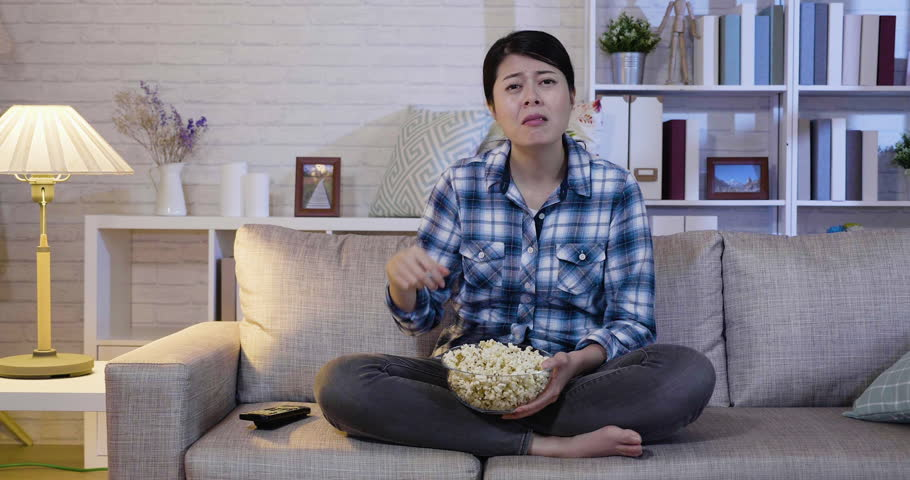 Emotional Lovely Girl Watching a Stock Footage Video (100% Royalty-free)  1025895545 | Shutterstock