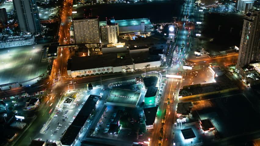 Las Vegas Strip Skyline Aerial Time Lapse Nevada USA | Shutterstock HD Video #1025959595
