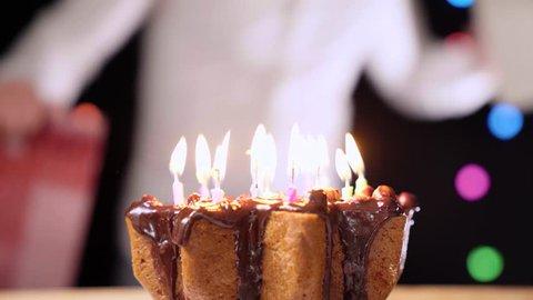 Super Birthday Cake With Candles Birthday Stockbeeldmateriaal En Personalised Birthday Cards Vishlily Jamesorg
