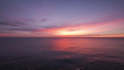 A sea-sunrise timelapse video of Barcelona