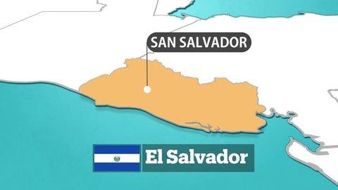 El Salvador Map and Flag
