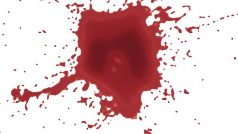 splashes of red paint or blood. alpha matte