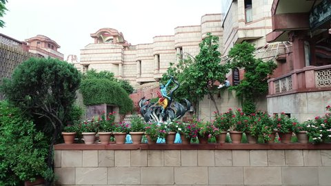 Krishna, Delhi, India, July 29th 2018: The International Society for Krishna Consciousness, known colloquially as the Hare Krishna movement, ISKCON was founded in 1966 in New York City.