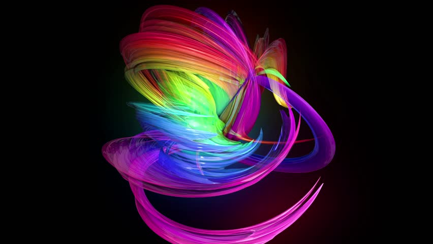 4k colorful looped animation of a rainbow colors tape with neon light moving in a circle as abstract background with lines and ribbons. Luma matte is included as alpha channel for compositing. 33 | Shutterstock HD Video #1026619895
