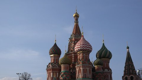Russia, Moscow 7.04.18. Moscow, red square, the dome of St. Basil's Cathedral.