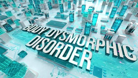 Body Dysmorphic Disorder with medical digital technology concept