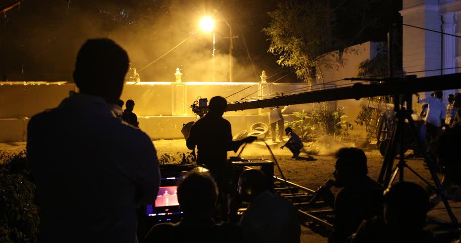 Film Crew silhouette 28th March 2019 Hyderabad India