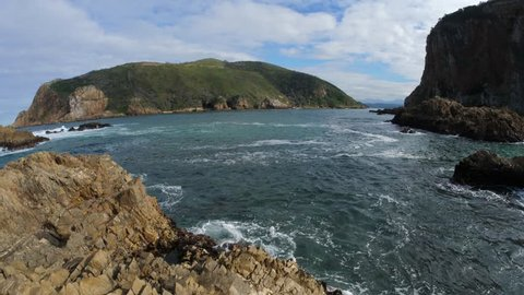 Knysna Heads, the entrance to the lagoon at Knysna. Garden Route. Western Cape. South Africa