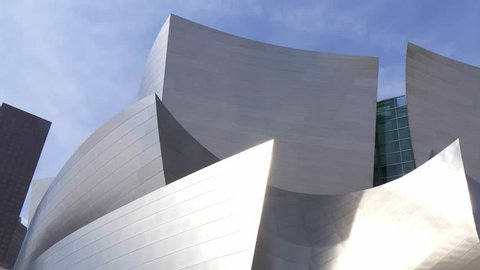 Modern architecture of Disney Concert Hall in Los Angeles - LOS ANGELES, USA - MARCH 18, 2019