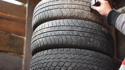 Unboxing Digital Tire Tread Depth Gauge Meter With LCD.