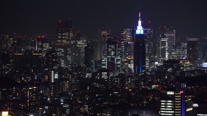 Aerial view of Tokyo city at night, Japan | Shutterstock HD Video #1027561505