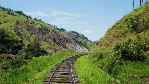 There is these railway line in the middle of nowhere, sorroundet by massive hills and pure nature - Freedome