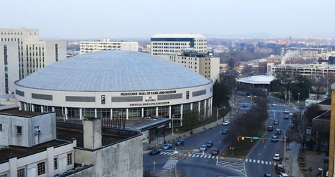 NASHVILLE, TENNESSEE- JANUARY 15, 2019: Musicians Hall of Fame and Museum, Nashville, Tennessee 4K. Housed on the first floor of the historic Nashville Municipal Auditorium