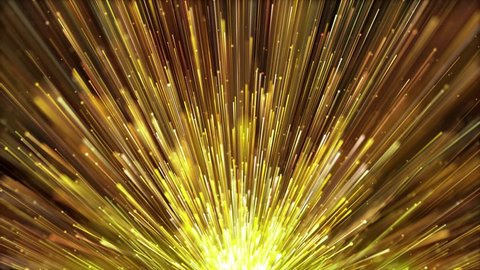 Golden particles light rising is a spectacular motion graphics background. Golden light stripes continue to rise, and the luxury awards ceremony video. Party celebration video, music stage TV show.