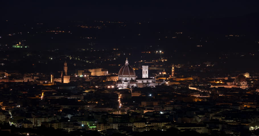 Florence Cityscape, Sunrise Time Lapse | Shutterstock HD Video #1027625975