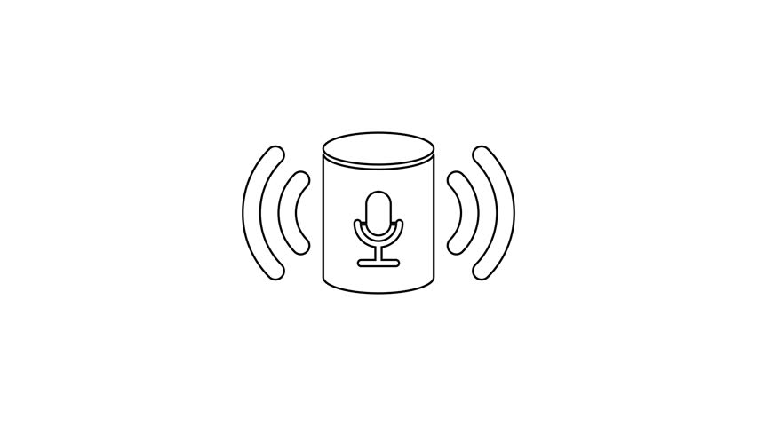 Grey Voice Assistant Line Icon Stock Footage Video (100% Royalty-free)  1027690895 | Shutterstock