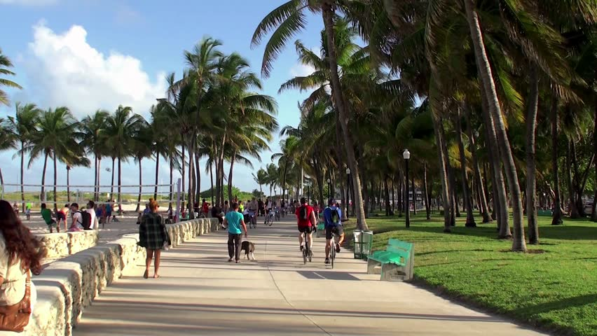 Stock Video Clip Of Miami Beach April 7 Vacationers People In Shutterstock