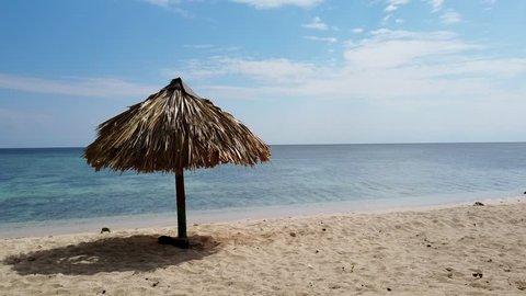 Ancon beach view in a sunny day. Trinidad, Cuba.