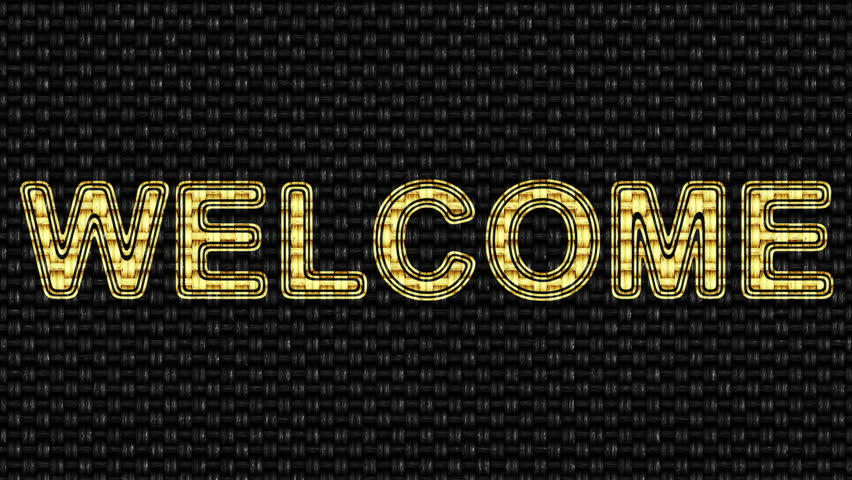 Welcome. Looping footage. Illustration. | Shutterstock HD Video #1027798625