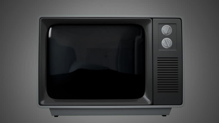 Digitally generated animation of old television showing static and another television | Shutterstock HD Video #1027806425