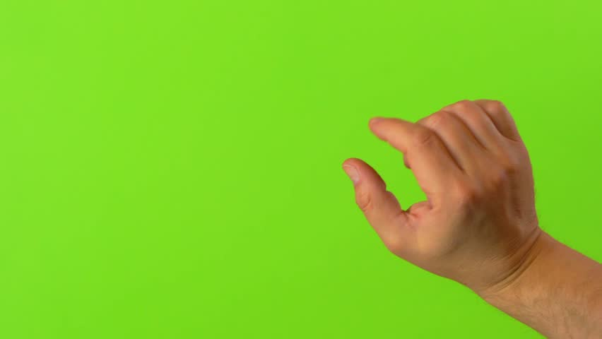Hand performed multiple multi touch gestures on green screen background 4k UHD  | Shutterstock HD Video #1027883015